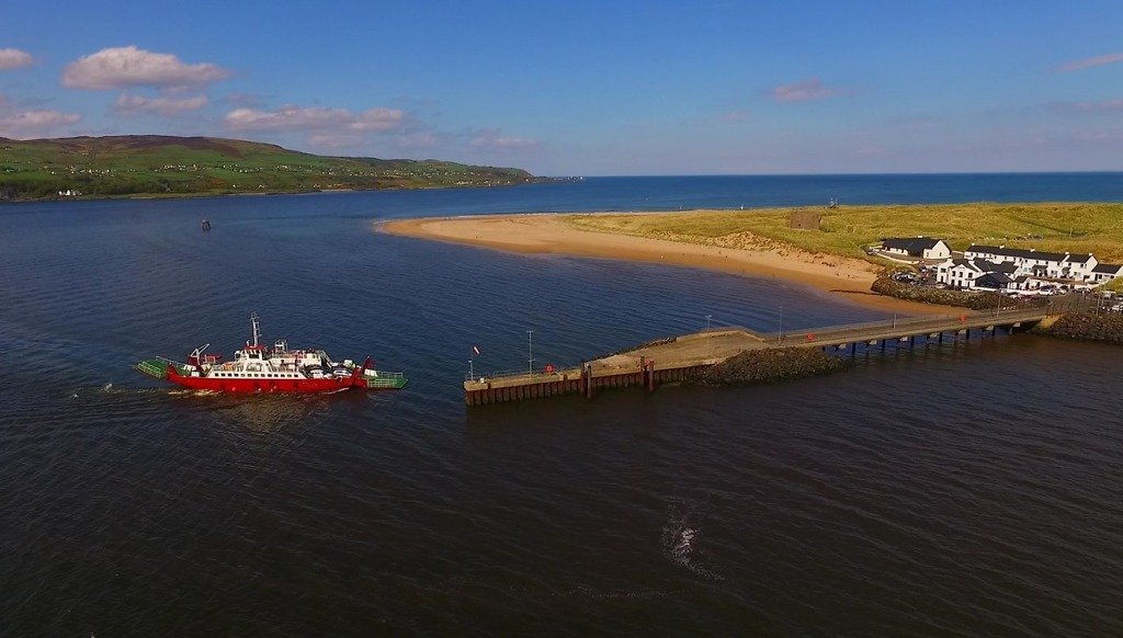 Ferry coming into Magilligan