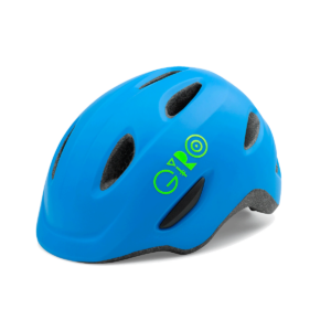 Giro Scamp Youth/Junior Bike Helmet - Blue/Lime