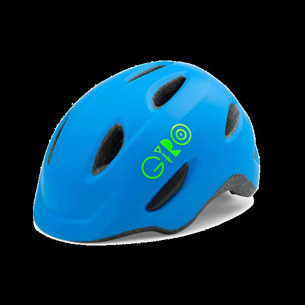 Giro Scamp Youth/Junior Bike Helmet - Blue/Lime