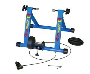 Rivasport Rivamatic Blue Magnetic Turbo Trainer With Remote Cable